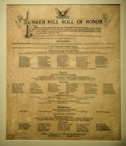 Bunker Hill Roll of Honor