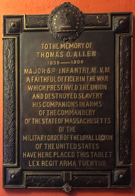Thomas O. Allen plaque