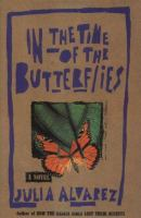 In the Time of Butterflies Book Jacket
